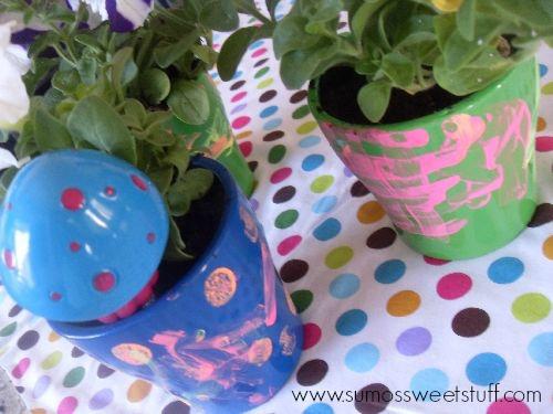 Painted Pots w/Kids - www.sumossweetstuff.com