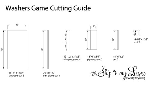 Washers Game Cutting Guide