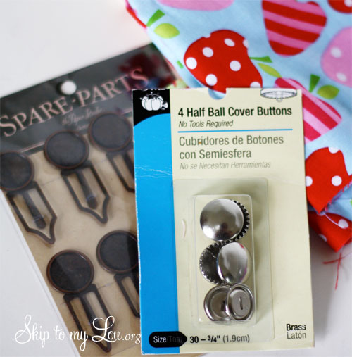 button bookmark supplies