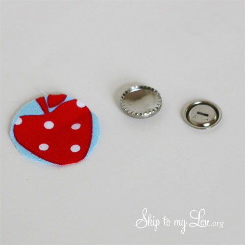 how to make covered buttons tutorial step 2