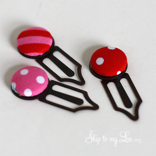 covered button bookmarks