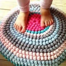 crochet bobble rug pattern