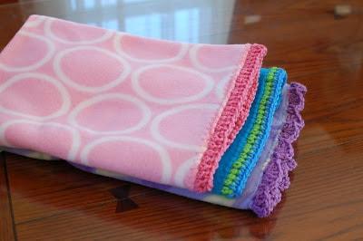 Crochet Edge Fleece Baby Blanket Skip To My Lou