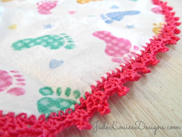 Free Scratch Cards >> Crochet Edge Burp Cloth | Skip To My Lou