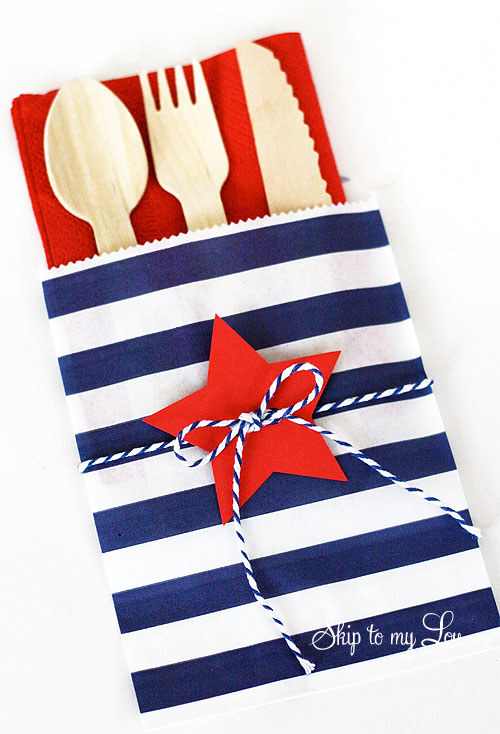 4th of July cutlery bags