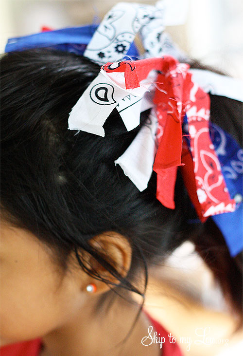 fourth of july ponytail holder