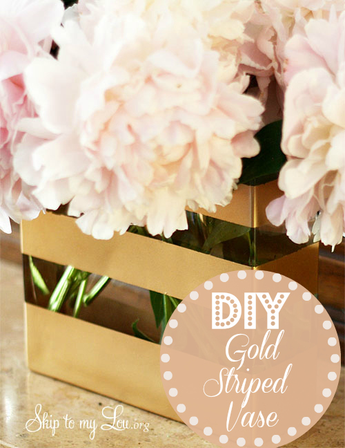 DIY Gold Spray Painted Vase