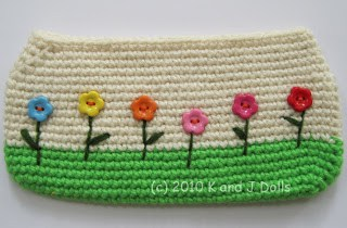hand bag crochet pattern with flowers