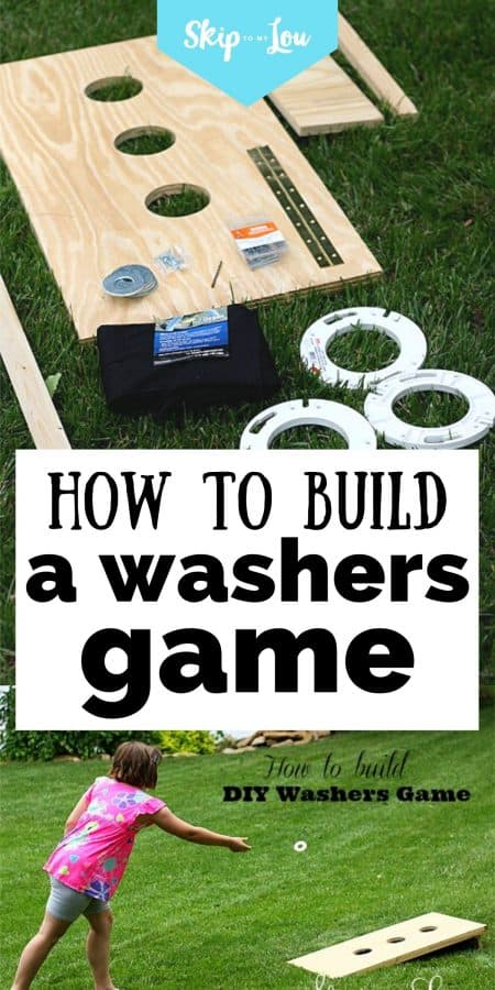 how to build a washers game PIN