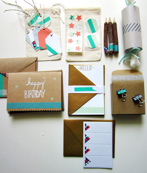 Washi Tape Stationery Set