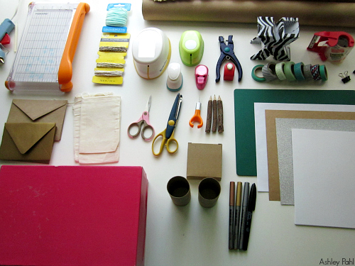 supplies for washi tape stationery