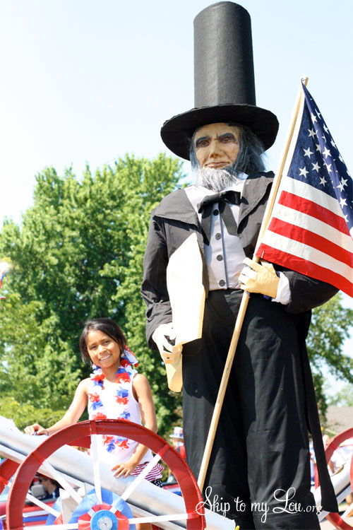 Abe Lincoln Parade Float