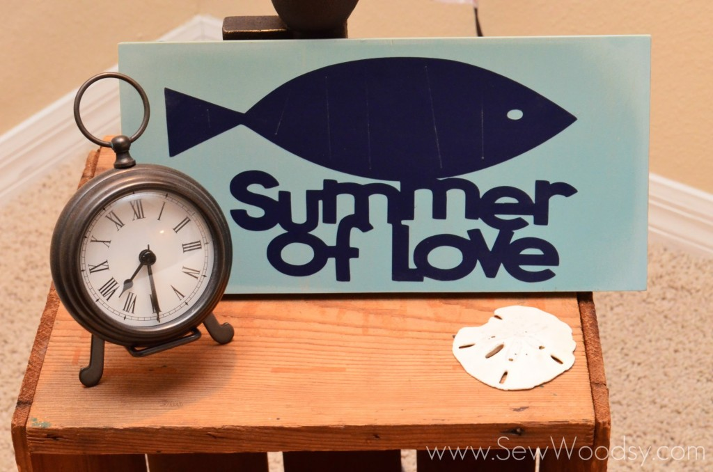 """Summer of Love"" Vinyl Sign guest post from SewWoodsy.com"