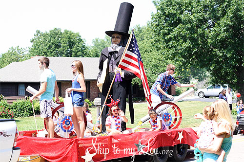 Parade Float Abe Lincoln