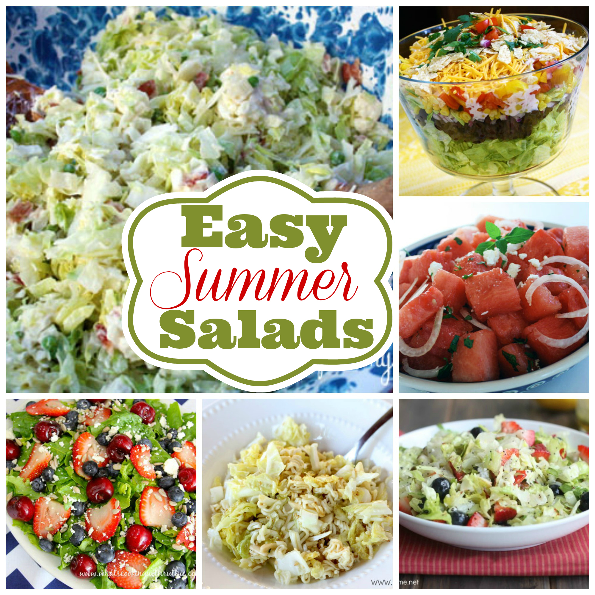 Easy Summer Lunch Ideas 6 easy summer salad recipes sisterspd