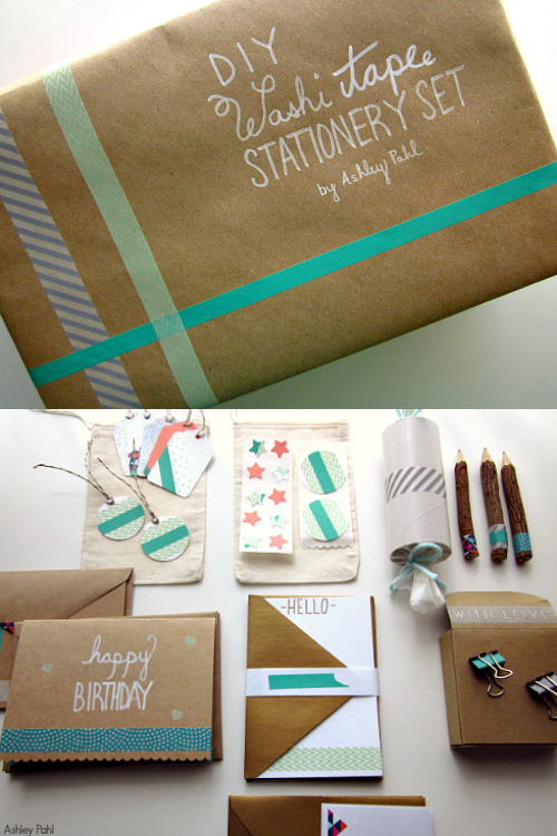 Washi Tape Stationery Set DIY