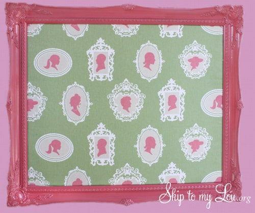 How to make a fabric covered bulletin board diy ditto for Diy fabric bulletin board ideas