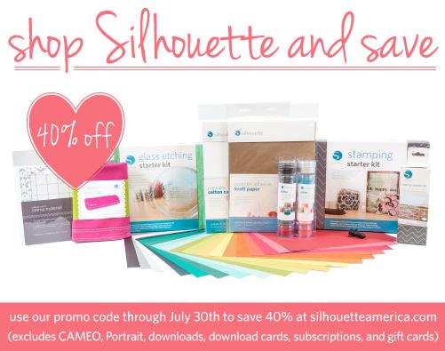 Silhouette 40% off Promo Sale