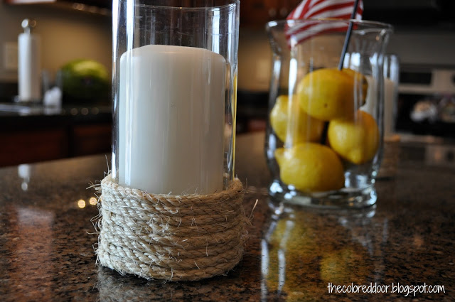 Rope Candle Holder tutorial