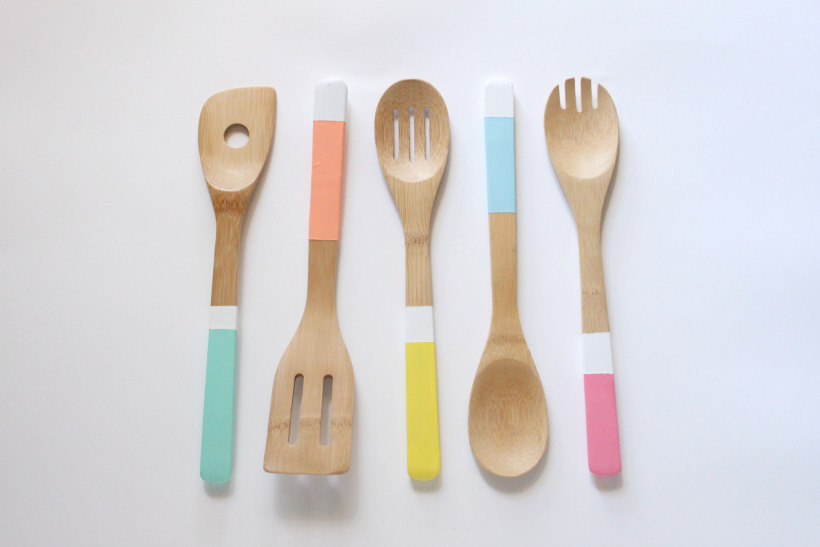 hand painted dipped spoons