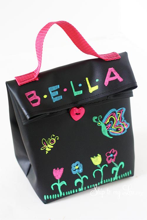 DIY Chalk Cloth Lunch Bag