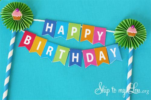 Mini birthday cake bunting