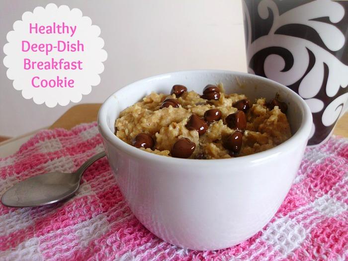 healthy deep dish breaskfast cookie