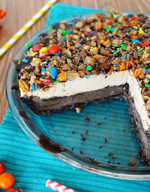 Chocolate Peanut Butter Ice Cream Pie
