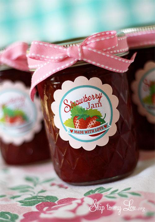 Strawberry Jam Printable Labels