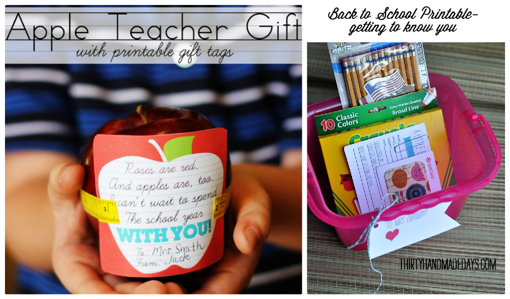 apple teacher gift idea