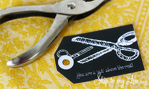 cut above gift tag tutorial