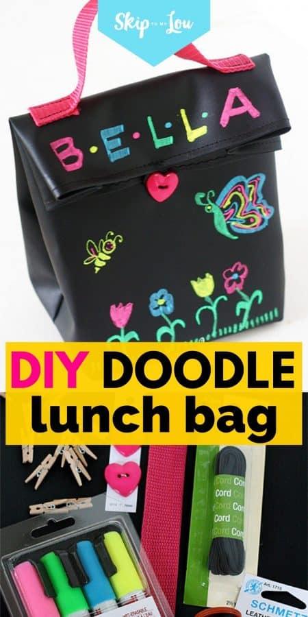 diy doodle lunch bag PIN