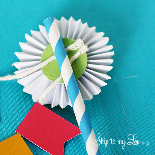 happy birthday cake bunting tutorial