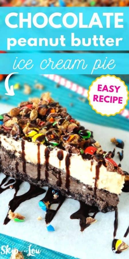 peanut butter ice cream pie recipe PIN