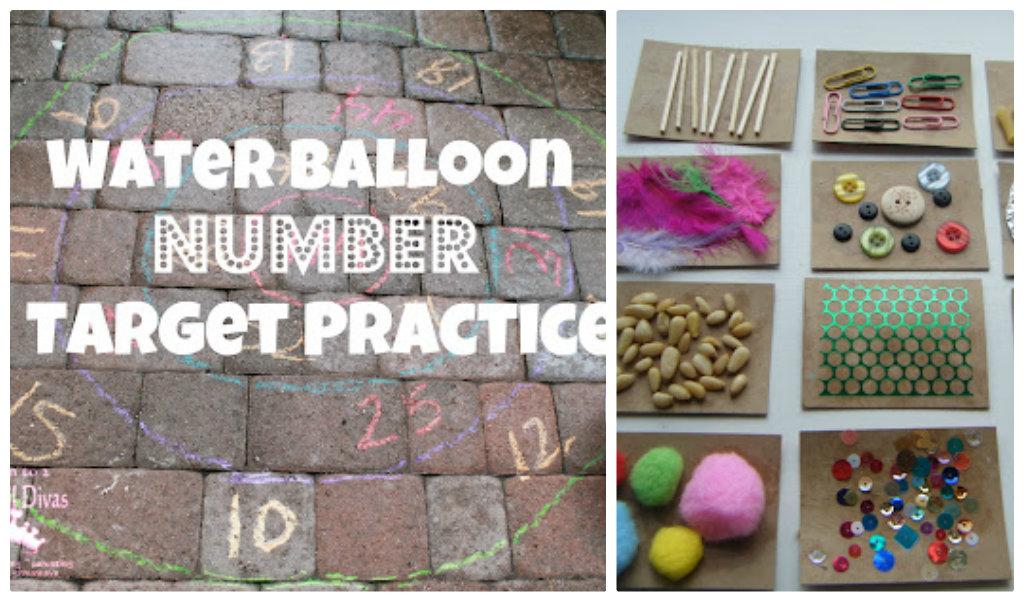 water balloon number target practice