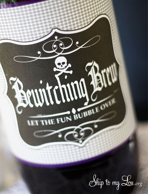 Bewitching Brew Bottle Label