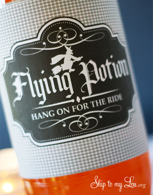 Flying Potion Halloween Bottle Label