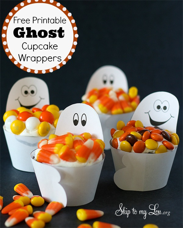 Ghost Cupcake Wrappers