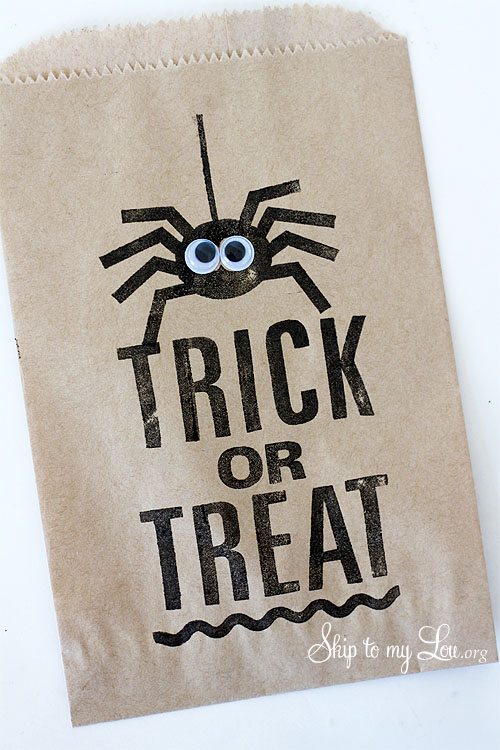 Trick or Treat Spider favor bag