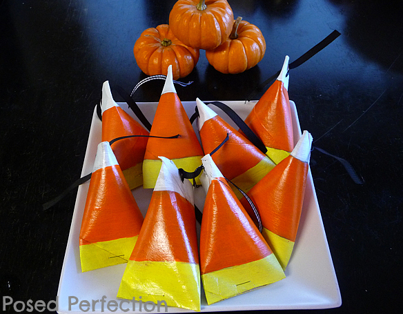 candy corn treat holders