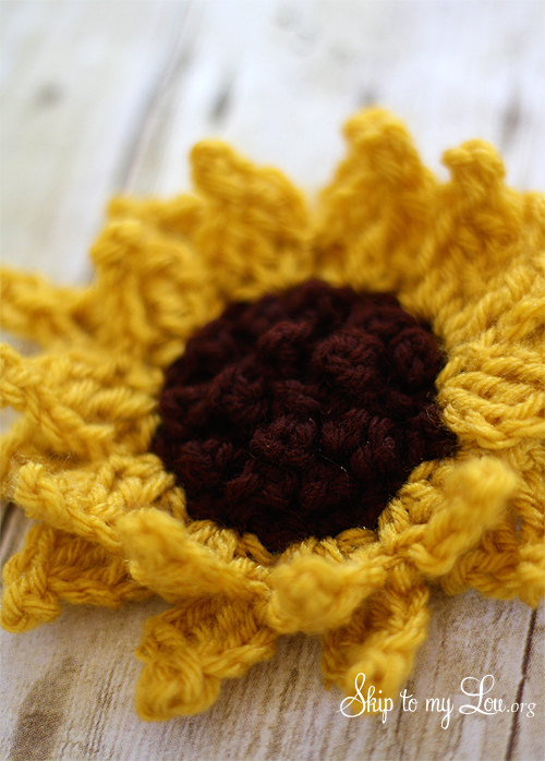 Crochet Sunflower Pattern