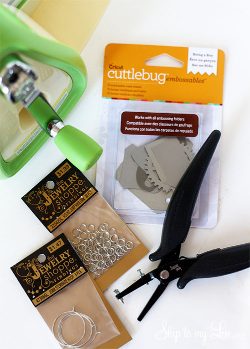 cuttlebug wine charms supplies