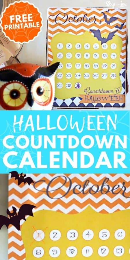 halloween countdown calendar PIN