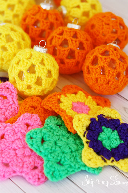 crochet ball ornaments
