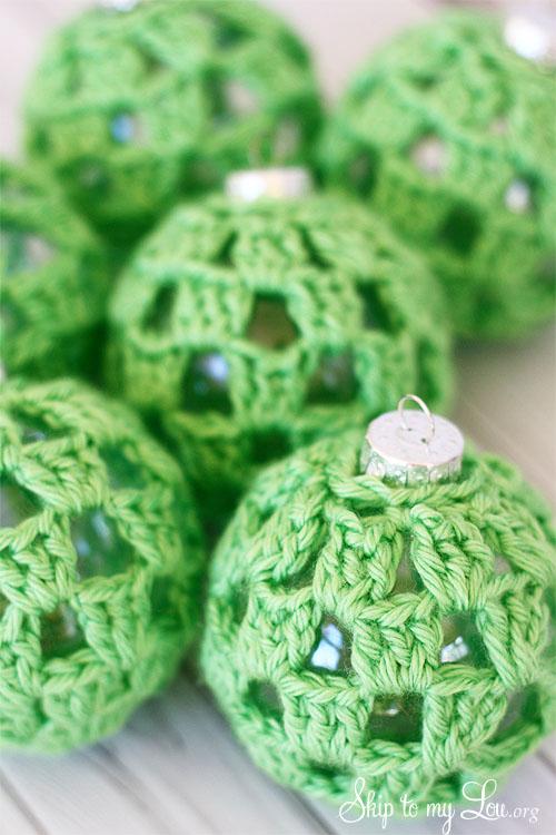 crochet baubles