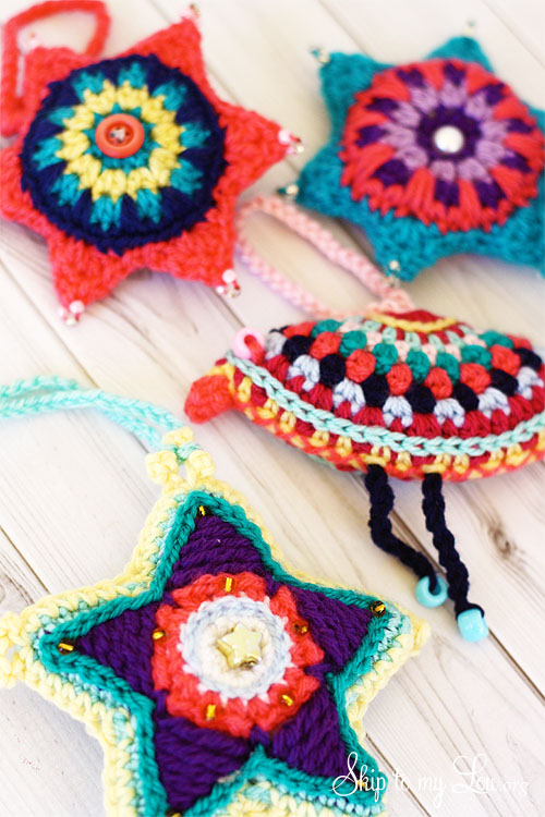 Crochet Ornaments : Pink and Purple Crochet Ball Christmas Tree Ornaments from Sarah Jones