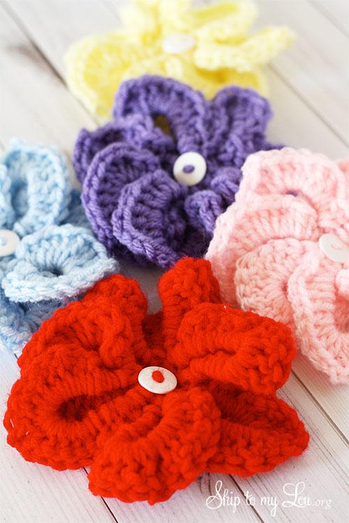 crochet croco flowers