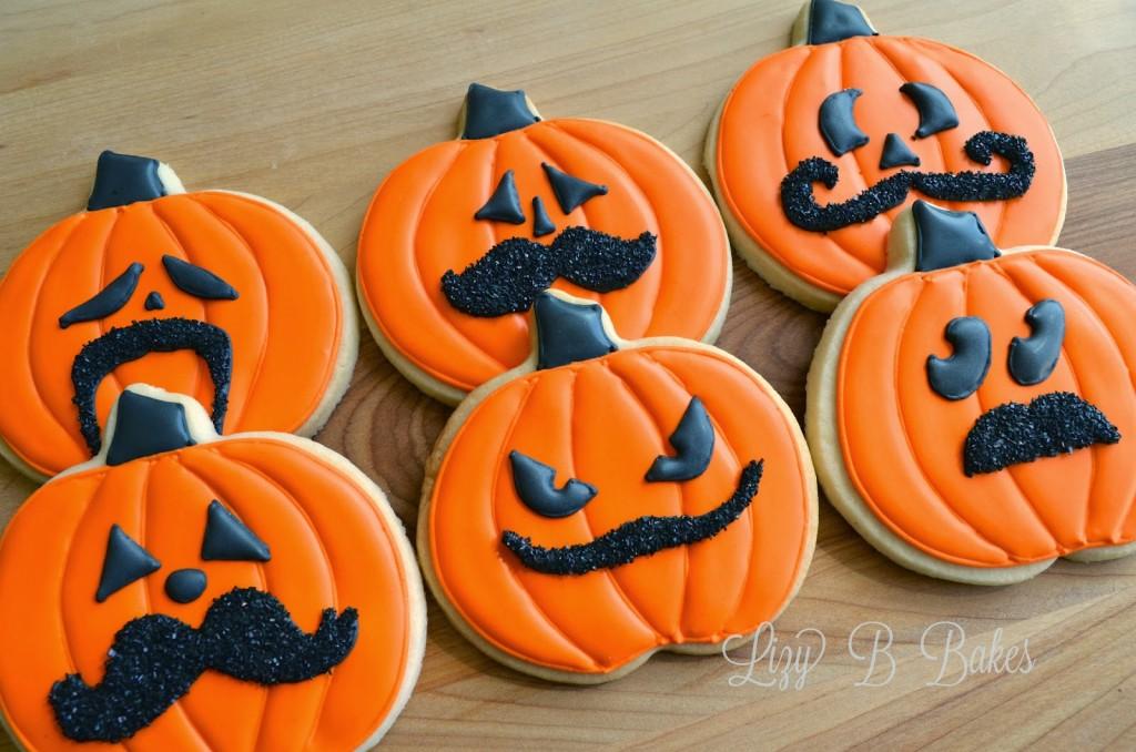 Pumpkin Mustache Cookies