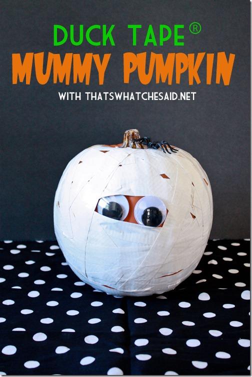 duck tape mummy pumpkin