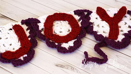 crochet joy bunting